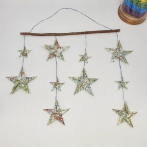 mobile étoile origami marigami