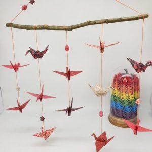 mobile 12 figurines origami marigami