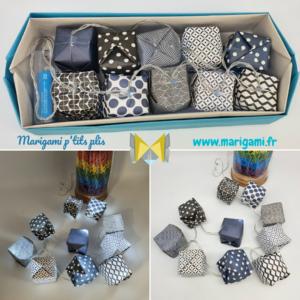 guirlande lumineuse 10 LED noir bleu marigami origami