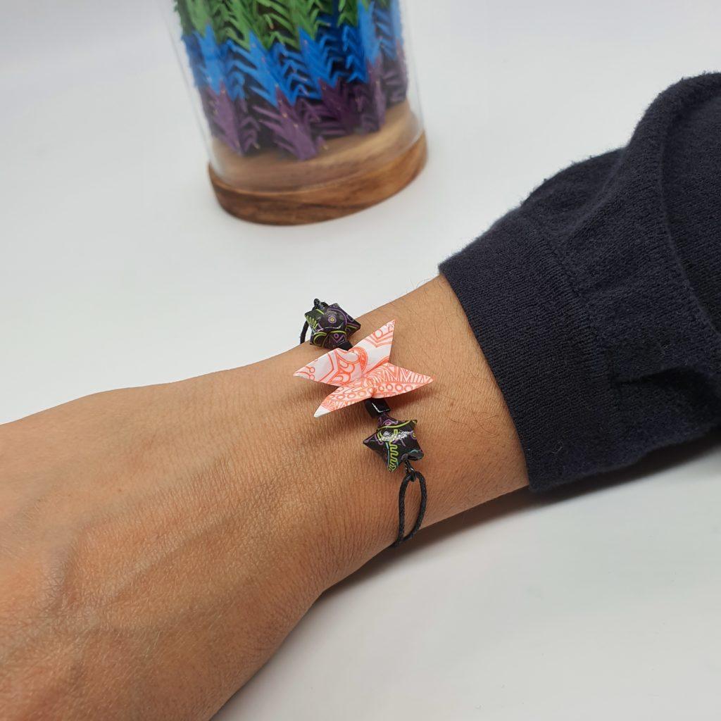 marigami origami bracelet papillon et étoile