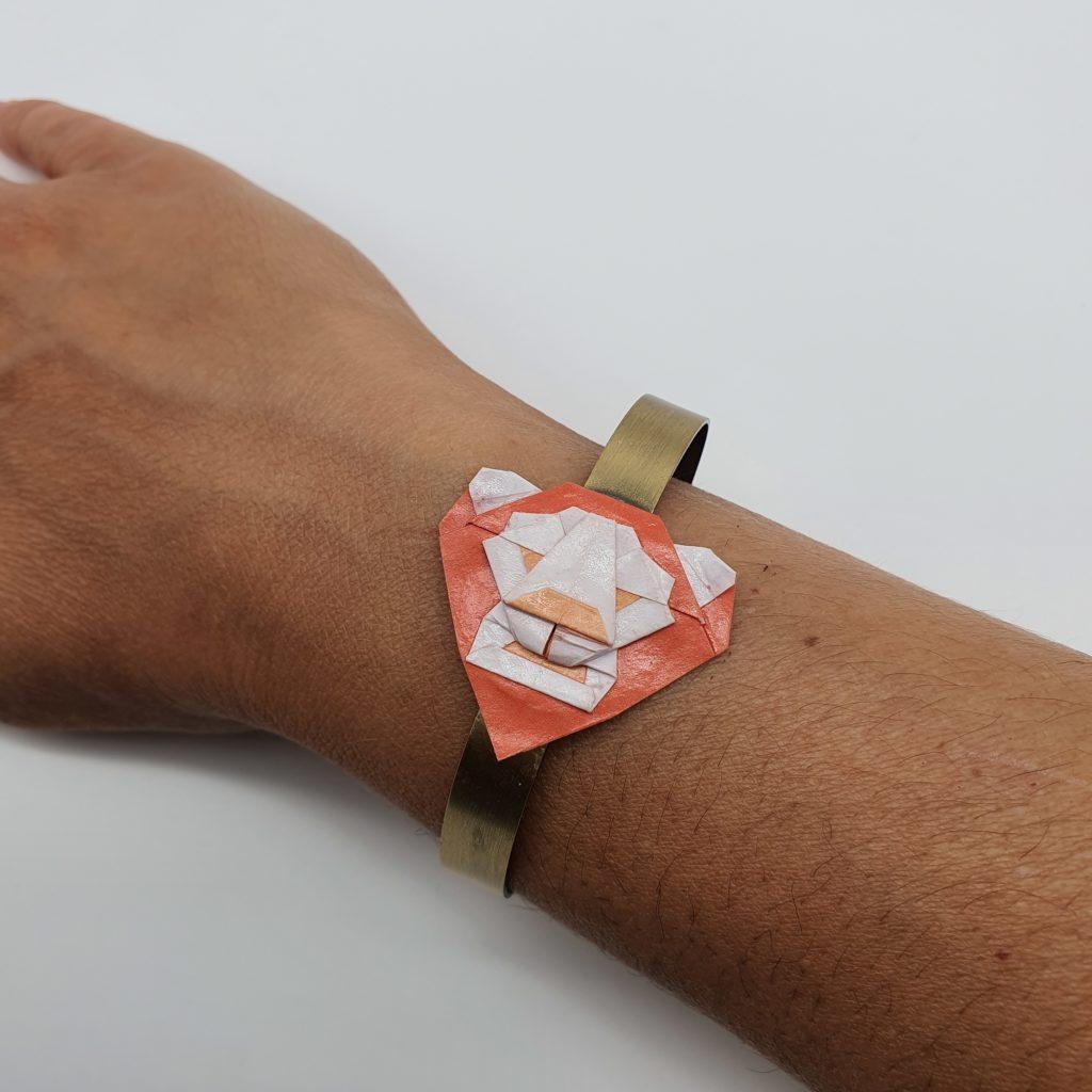marigami origami bracelet tête de lion