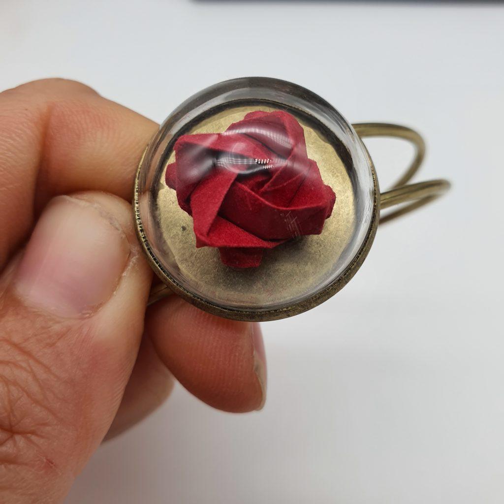 marigami origami bracelet rose
