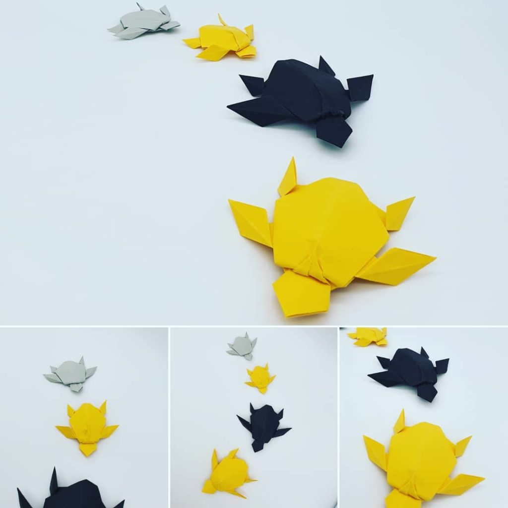 marigami origami décoration tortue