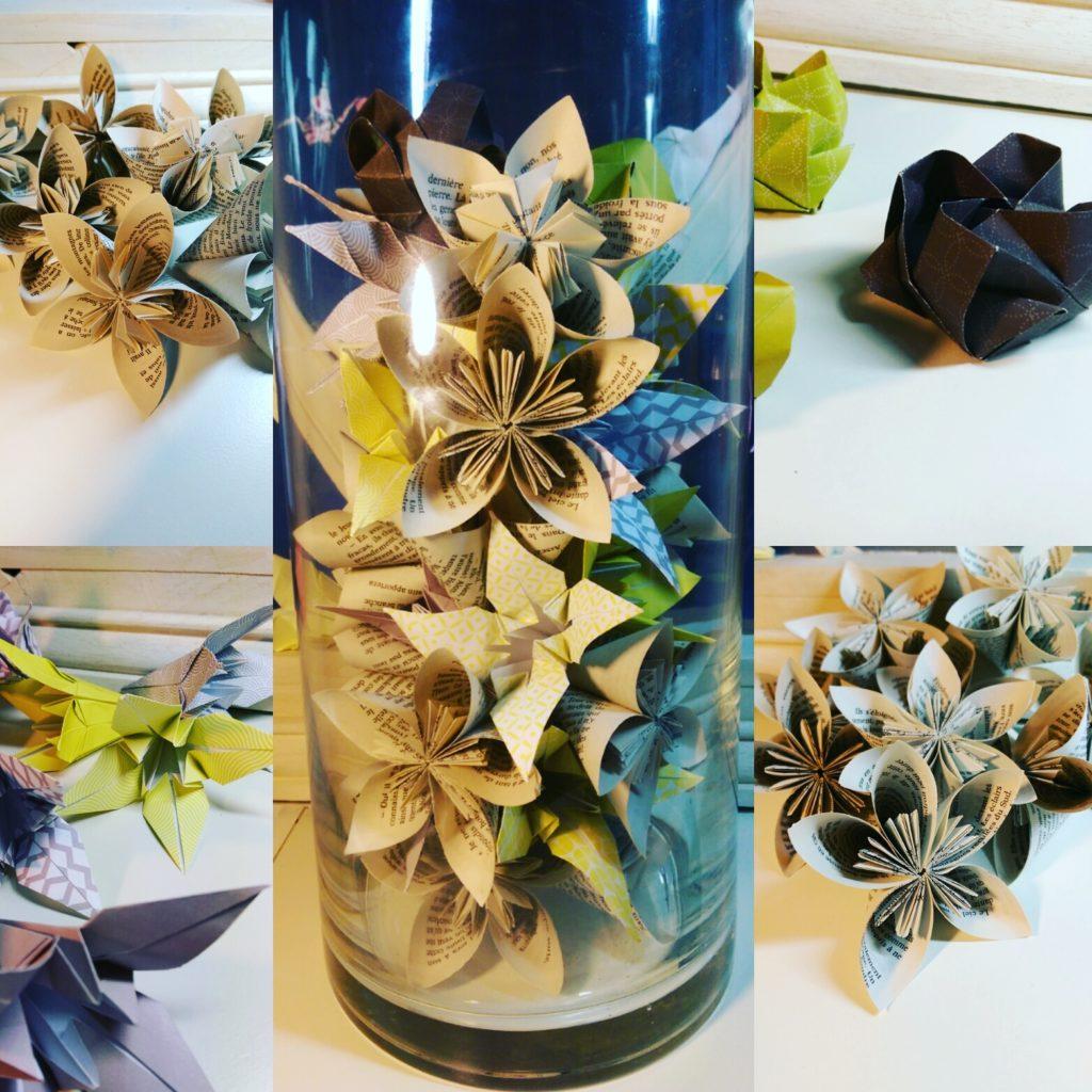 marigami origami fleur en papier roman