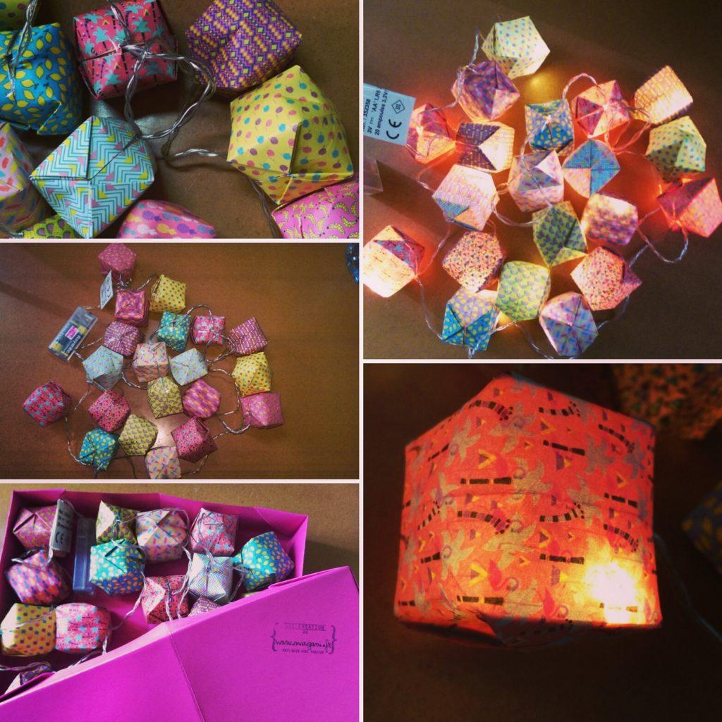 marigami origami guirlande lumineuse 20led motif fantaisie