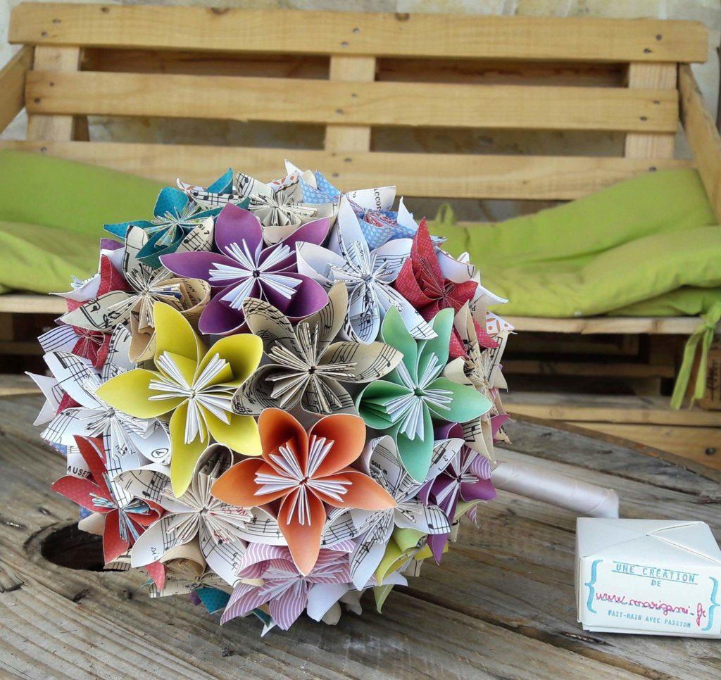 marigami origami bouquet mariage fleurogami