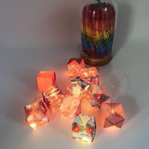 guirlande lumineuse 10led origami marigami
