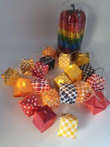 guirlande lumineuse 20led marigami origami
